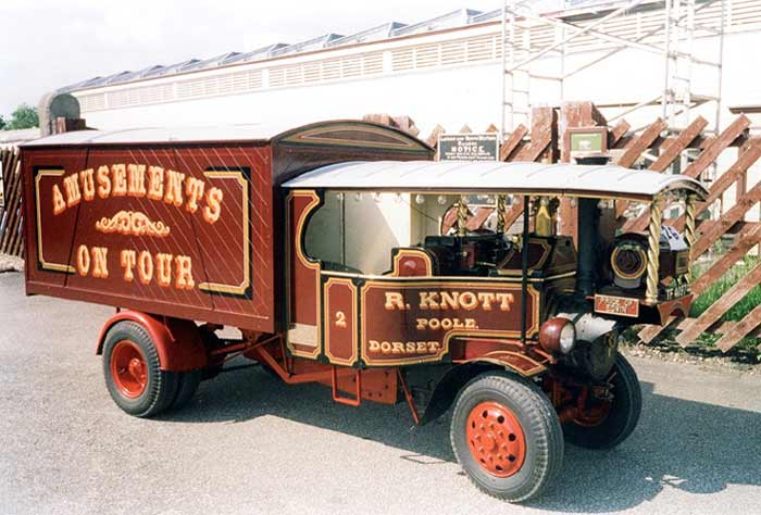 Road steam lorry